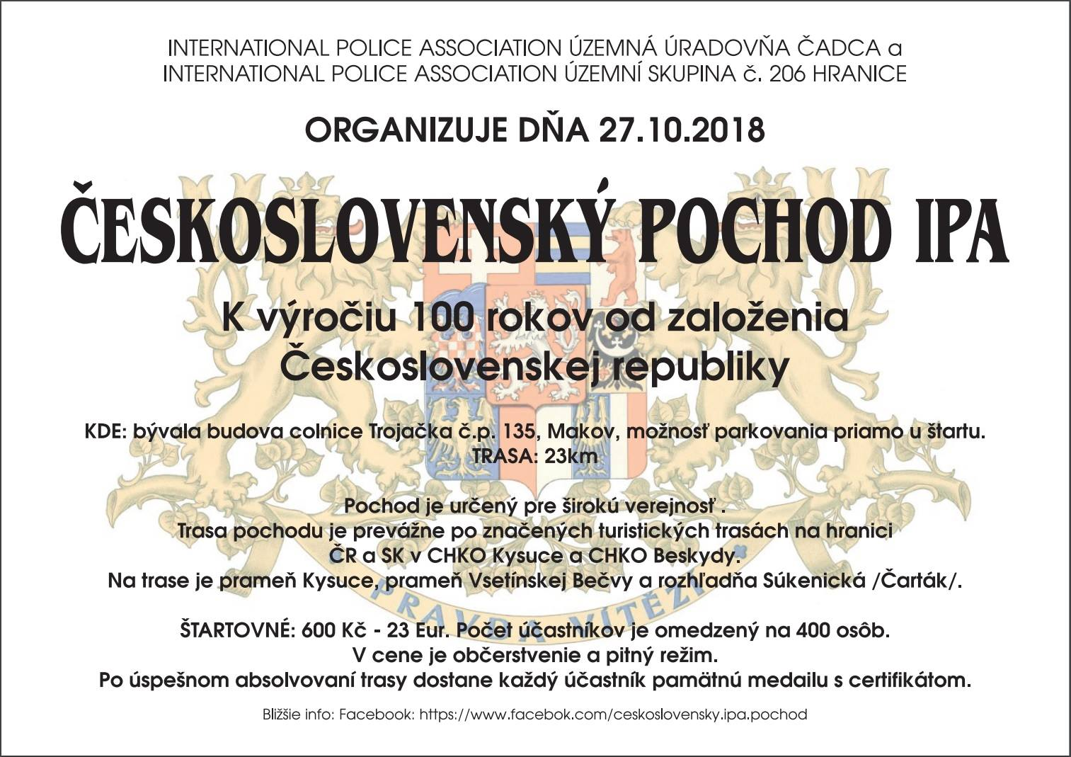 Československý IPA pochod 2018, Slovensko