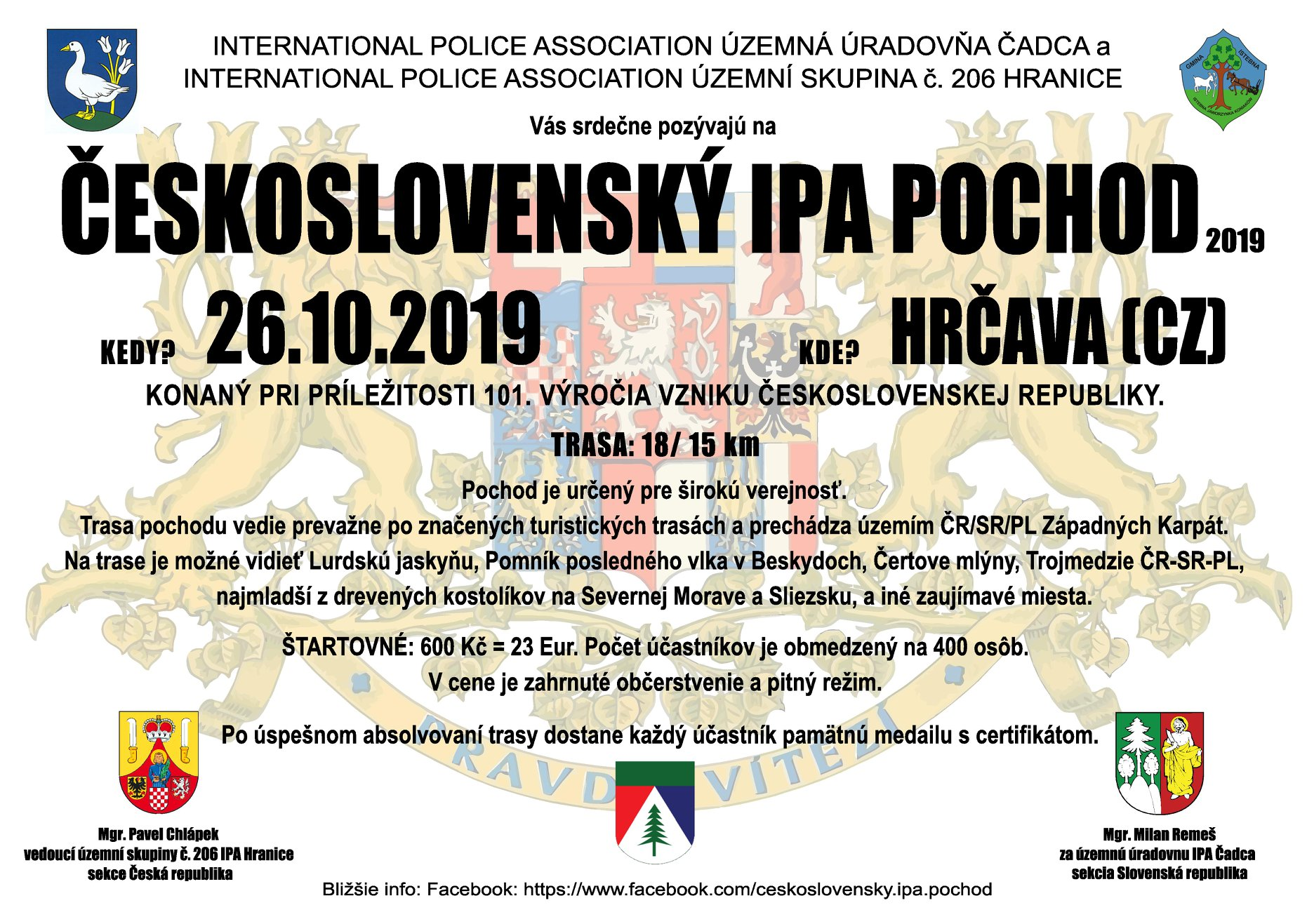 Československý IPA pochod 2019, Česko